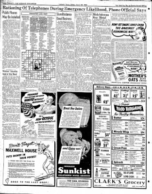 Lubbock Morning Avalanche from Lubbock, Texas on March 20, 1942 · Page 10