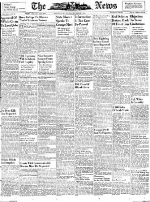 The News from Frederick, Maryland on December 4, 1951 · Page 1