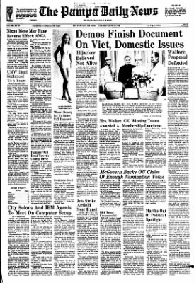 Pampa Daily News from Pampa, Texas on June 27, 1972 · Page 1