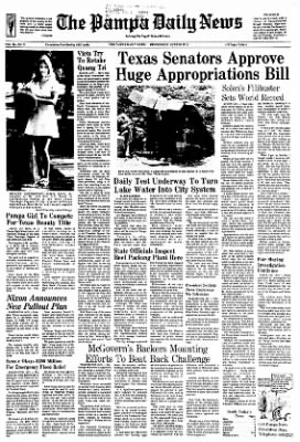 Pampa Daily News from Pampa, Texas on June 28, 1972 · Page 1