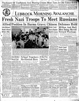 Lubbock Morning Avalanche from Lubbock, Texas on April 1, 1942 · Page 1