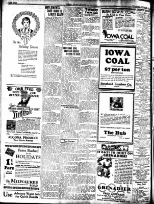 Kossuth County Advance from Algona, Iowa on December 18, 1930 · Page 8