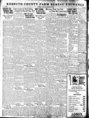 Kossuth County Advance from Algona, Iowa on December 18, 1930 · Page 12