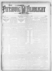 Sample The Pittsburg Headlight front page