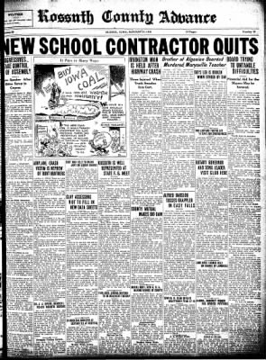 Kossuth County Advance from Algona, Iowa on January 15, 1931 · Page 1