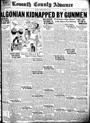 Kossuth County Advance from Algona, Iowa on January 29, 1931 · Page 1