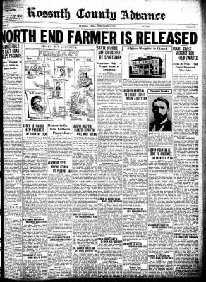 Kossuth County Advance from Algona, Iowa on February 5, 1931 · Page 1