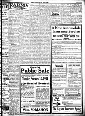 Kossuth County Advance from Algona, Iowa on February 5, 1931 · Page 11