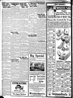 Kossuth County Advance from Algona, Iowa on February 19, 1931 · Page 6