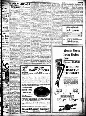 Kossuth County Advance from Algona, Iowa on February 26, 1931 · Page 7