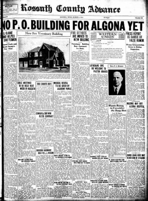 Kossuth County Advance from Algona, Iowa on March 5, 1931 · Page 1