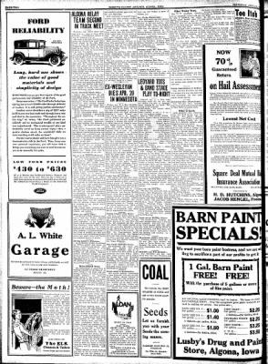 Kossuth County Advance from Algona, Iowa on April 23, 1931 · Page 2