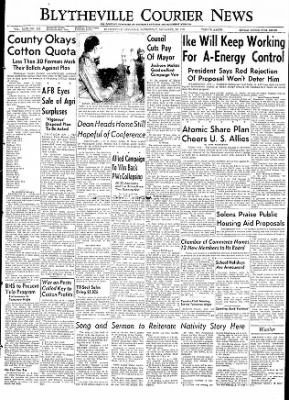 The Courier News from Blytheville, Arkansas on December 16, 1953 · Page 1