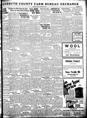 Kossuth County Advance from Algona, Iowa on April 30, 1931 · Page 9