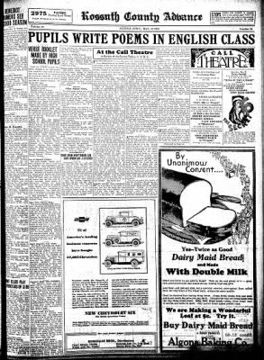 Kossuth County Advance from Algona, Iowa on May 21, 1931 · Page 11