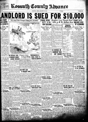 Kossuth County Advance from Algona, Iowa on August 13, 1931 · Page 1