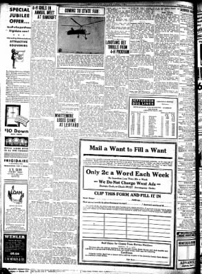 Kossuth County Advance from Algona, Iowa on August 13, 1931 · Page 8