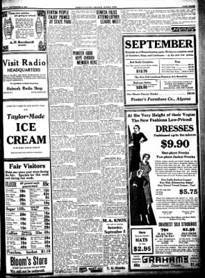 Kossuth County Advance from Algona, Iowa on September 1, 1931 · Page 3