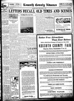 Kossuth County Advance from Algona, Iowa on September 1, 1931 · Page 9