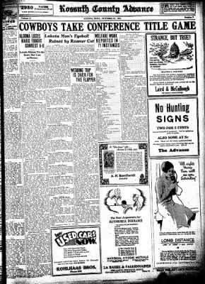 Kossuth County Advance from Algona, Iowa on October 29, 1931 · Page 7
