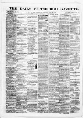The Pittsburgh Gazette from Pittsburgh, Pennsylvania on June