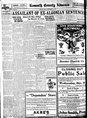 Kossuth County Advance from Algona, Iowa on December 10, 1931 · Page 6