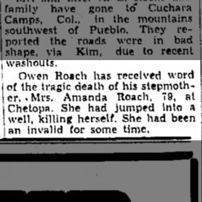 Amanda Roach death - washouts. Owen Roach has received word of the...