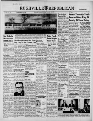 Rushville Republican from Rushville, Indiana on December 21, 1957 · Page 1