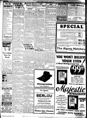 Kossuth County Advance from Algona, Iowa on May 5, 1932 · Page 8