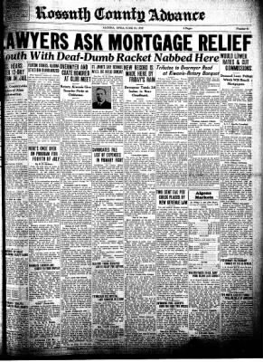 Kossuth County Advance from Algona, Iowa on June 23, 1932 · Page 1
