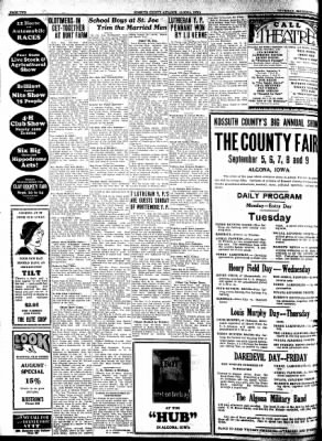 Kossuth County Advance from Algona, Iowa on September 1, 1932 · Page 2