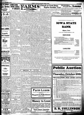 Kossuth County Advance from Algona, Iowa on October 13, 1932 · Page 7