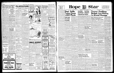 Hope Star from Hope, Arkansas on January 21, 1946 · Page 1