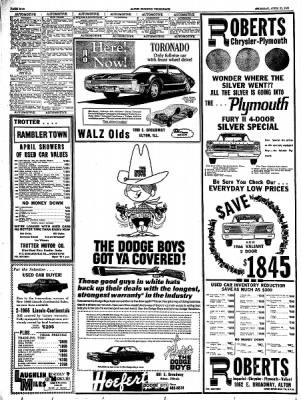alton evening telegraph from alton illinois on april 21 1966 page 38 Chevy 1 Ton 1997 Custom