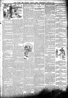 The Algona Upper Des Moines from Algona, Iowa on June 20, 1894 · Page 3