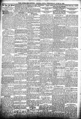The Algona Upper Des Moines from Algona, Iowa on June 20, 1894 · Page 4