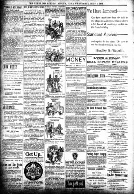 The Algona Upper Des Moines from Algona, Iowa on July 4, 1894 · Page 8