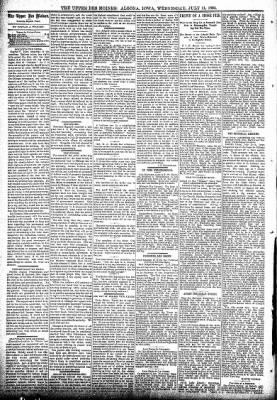 The Algona Upper Des Moines from Algona, Iowa on July 11, 1894 · Page 4