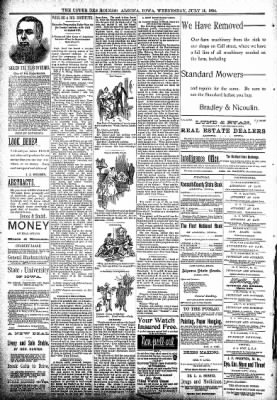 The Algona Upper Des Moines from Algona, Iowa on July 11, 1894 · Page 8