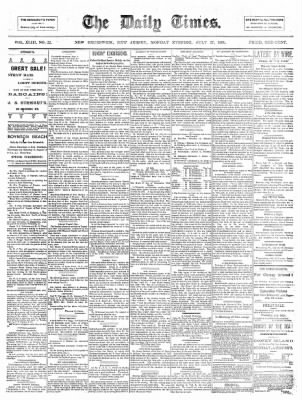 The Daily Times from New Brunswick, New Jersey on July 27, 1891 · Page 1