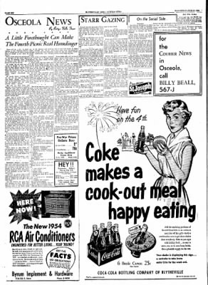 The Courier News from Blytheville, Arkansas on June 30, 1954 · Page 6