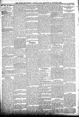 The Algona Upper Des Moines from Algona, Iowa on August 15, 1894 · Page 4
