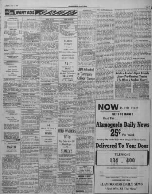 Alamogordo Daily News from Alamogordo, New Mexico on July 8, 1955 ...
