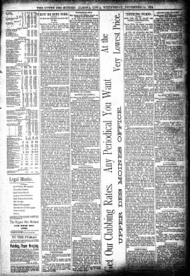 The Algona Upper Des Moines from Algona, Iowa on November 14, 1894 · Page 7