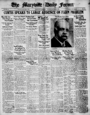 The Maryville Daily Forum from Maryville, Missouri on October 4, 1932 · Page 1