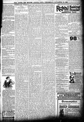 The Algona Upper Des Moines from Algona, Iowa on November 21, 1894 · Page 11