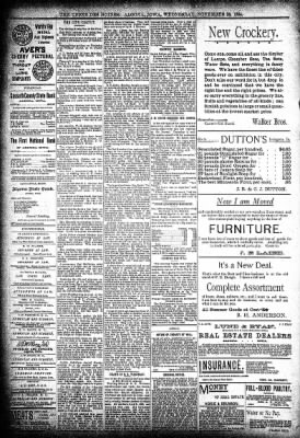 The Algona Upper Des Moines from Algona, Iowa on November 28, 1894 · Page 8