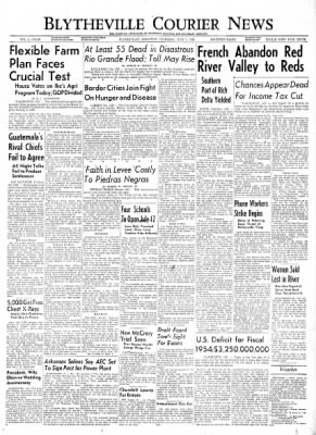 The Courier News from Blytheville, Arkansas on July 1, 1954 · Page 1