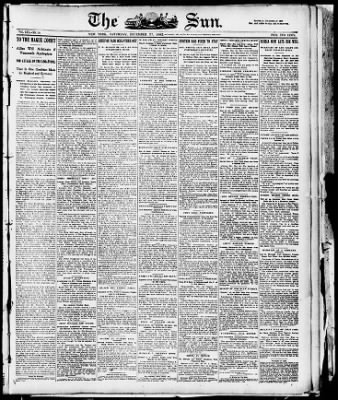The Sun from New York, New York on December 27, 1902 · Page 1