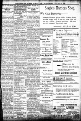 The Algona Upper Des Moines from Algona, Iowa on January 30, 1895 · Page 5